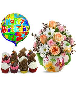 Teapot full of Blooms Birthday Bundle