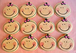Blushing Baby Cookies