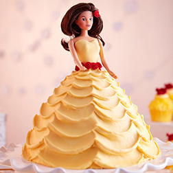 Princess in Yellow Doll Cake