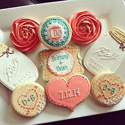 Classy Anniversary Cookies
