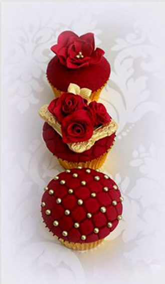 Royal Red Dozen Cupcakes