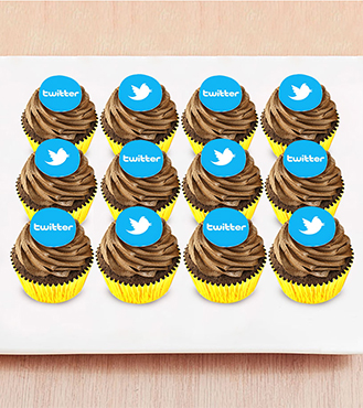 Chocolate Bomb - 12 Cupcakes with Edible Logo