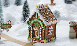 Cozy Cabin Gingerbread House