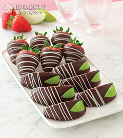 Swizzled Chocolate Covered Strawberries and Apples