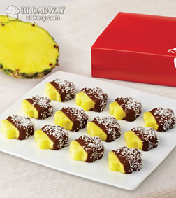 Chocolate Dipped Pineapple with Coconut