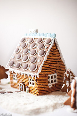 Woodland Home Gingerbread House