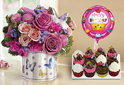Field Of Butterflies Sugarfree Cupcake Bundle