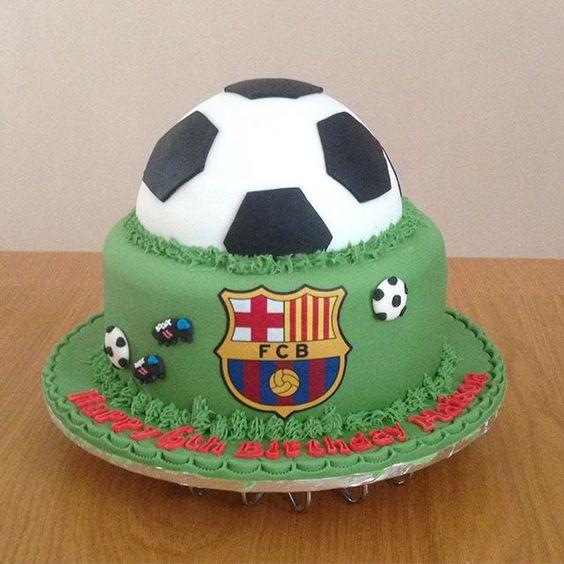 Tiered Football Cake