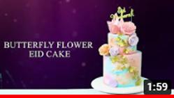 Shimmering Butterflies Eid Cake