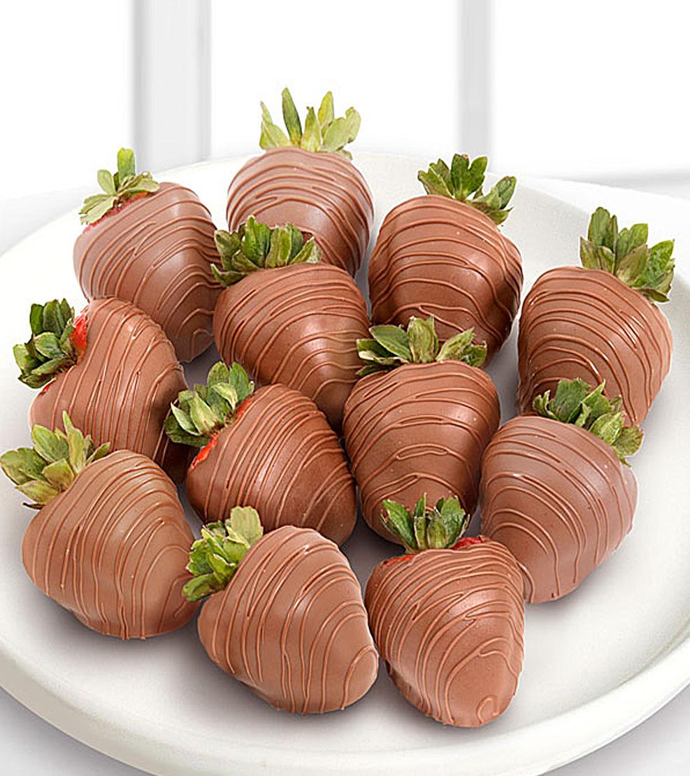The Classic Dozen Milk Chocolate Covered Strawberries