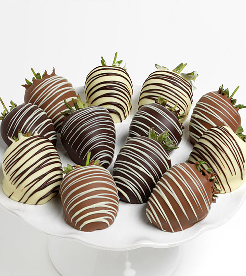 Ultimate Triple Chocolate Covered Strawberries Dozen
