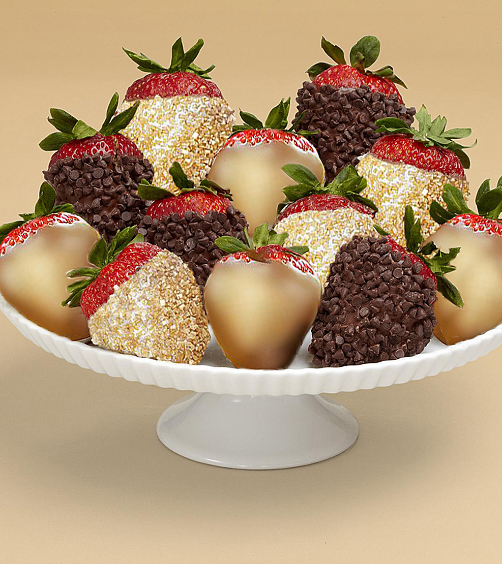 The Gold Standard Dozen Dipped Strawberries