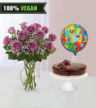 Lavender Wishes Vegan Chocolate Cake Bundle