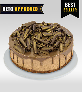 Keto 1KG Double Chocolate Cheesecake By Broadway Bakery. Gluten Free, Sugar Free, Low Carb Dessert...