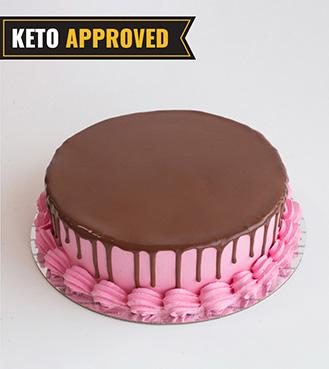 Keto 1KG Strawberry Chocolate Cake By Broadway Bakery. Gluten Free, Sugar Free, Low Carb Dessert...