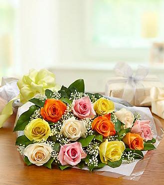 One Dozen Rose Presentation Bouquet