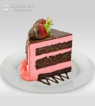 Oh So Pretty Strawberry Chocolate Cake 1kg Theflowershop Ae 37984