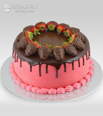 Oh So Pretty Strawberry Chocolate Cake - 2Kg