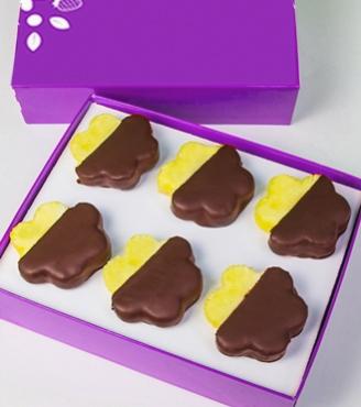Chocolate Dipped Pineapple Daisies - Half Dozen