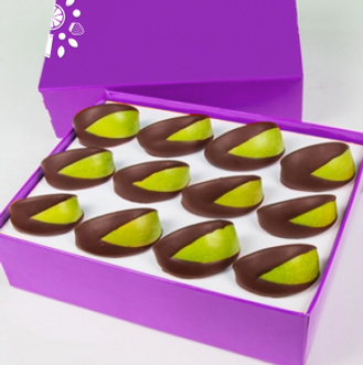 Chocolate Covered Apple Wedges