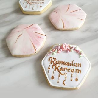 Marvelous Pink Ramadan Cookies