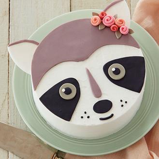 Rosy Raccoon Cake