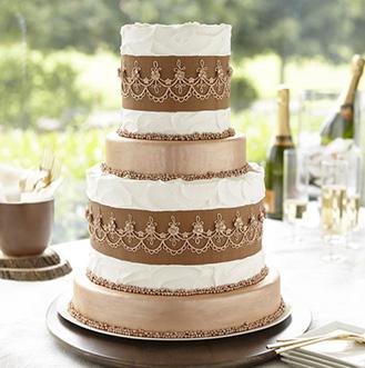 Bronze Tiered Cake