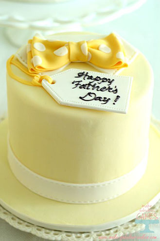 Yellow Bow Tie Father's Day Cake