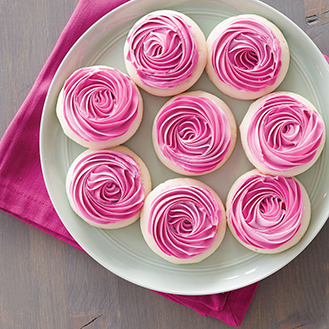 Pretty Pink Swirl Cookies