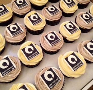 Women's Day Logo Cupcakes