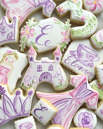 Tea Time at the Castle Cookies