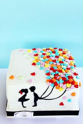 Sweet Surprise Balloons Cake