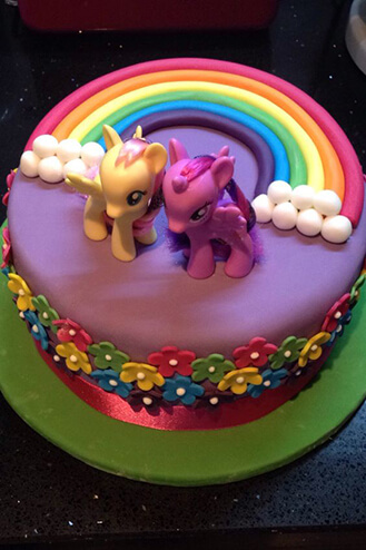 Terrific Mlp Rainbow Flower Cake Broadwaybakery Com 40096 Funny Birthday Cards Online Eattedamsfinfo