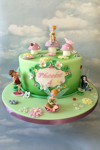 Fine Tinkerbell Pastel Friends Birthday Cake Broadwaybakery Com 40253 Personalised Birthday Cards Cominlily Jamesorg