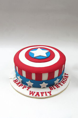 Admirable Captain America Shield Cake Broadwaybakery Com 39832 Funny Birthday Cards Online Elaedamsfinfo