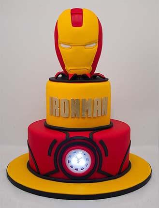 Amazing Iron Man Tiered Costume Cake Broadwaybakery Com 39865 Funny Birthday Cards Online Fluifree Goldxyz