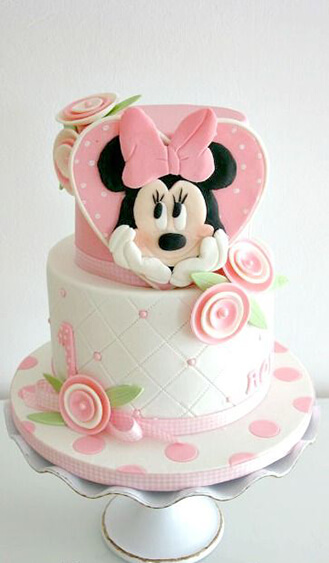 Stupendous Pastel Minnie Mouse Birthday Cake Broadwaybakery Com 39450 Funny Birthday Cards Online Bapapcheapnameinfo