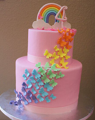 Over the Rainbow Butterfly Cake