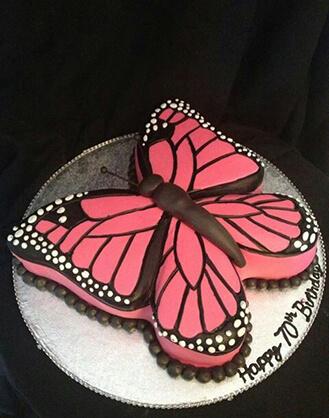 Pretty In Pink Butterfly Cake Broadwaybakery Com 40196