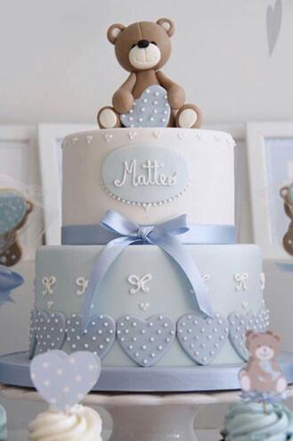 Cuddle Bear Baby Cake
