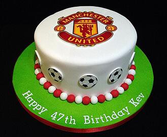 Brilliant Manchester United Football Cake Broadwaybakery Com 39357 Birthday Cards Printable Nowaargucafe Filternl