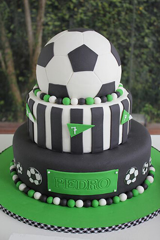 Football/Soccer Ball Tiered Cake