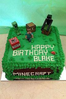 Astonishing Minecraft Happy Steve Box Cake Chocolatefactory Ae 39472 Funny Birthday Cards Online Eattedamsfinfo