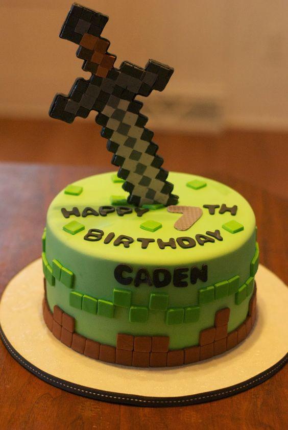 Minecraft Diamond Sword Cake Theflowershop 39473