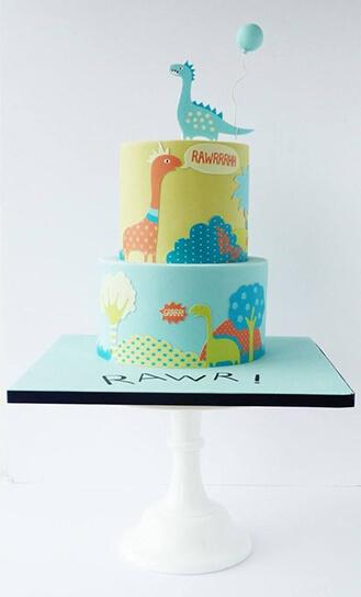 Baby Dinosaur Cake 2 Broadwaybakery Com 39959