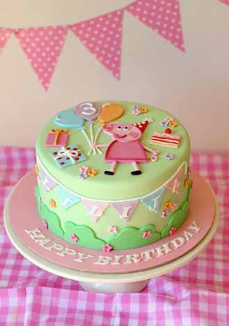 Peppa Pig Birthday Cake 4 Broadwaybakery 39556