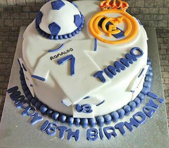 Phenomenal Real Madrid Team Jerseys Cake Fruitbouquets Ae 40970 Funny Birthday Cards Online Elaedamsfinfo