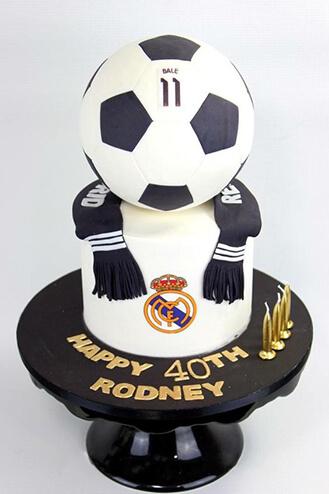 Magnificent Real Madrid Football Cake 3 Chocolatefactory Ae 40972 Funny Birthday Cards Online Elaedamsfinfo