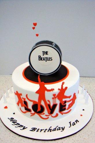 Awe Inspiring The Beatles Cake 2 Broadwaybakery Com 40524 Funny Birthday Cards Online Alyptdamsfinfo