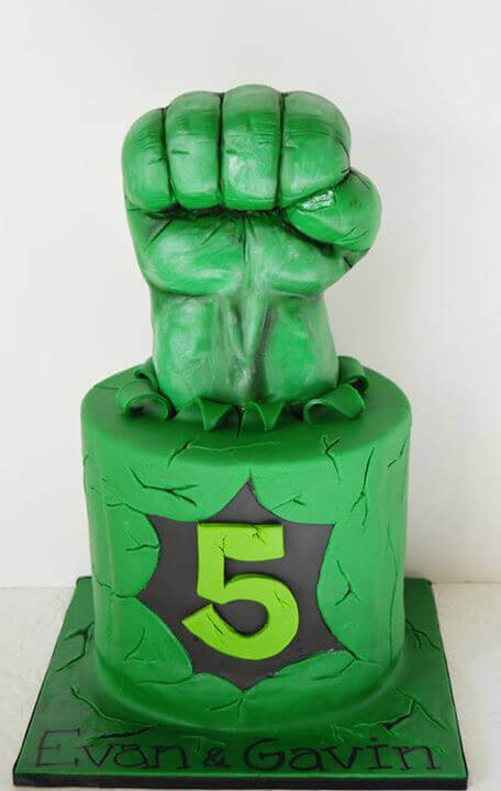 how to make a hulk fist out of rice krispies